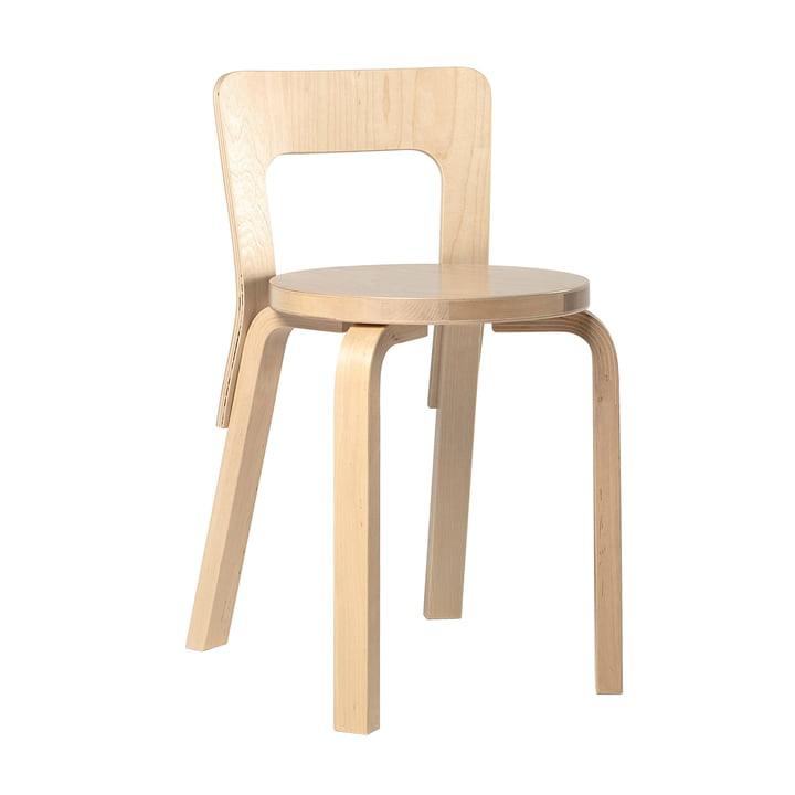 65 Stuhl von Artek in Birke klar lackiert