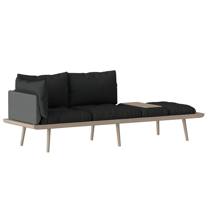 Lounge Around 3-Sitzer Sofa Eiche von Umage in slate grey / dark grey