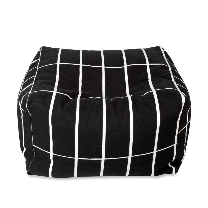 Marimekko - Tiiliskivi Puffi Sitzkissen, schwarz / weiß