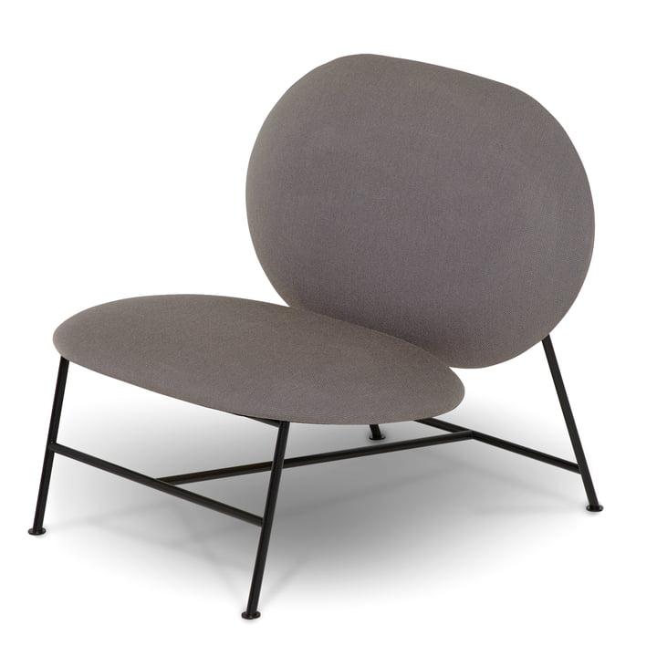 Der Northern - Oblong Lounge Chair, schwarz / Brusvik hellgrau (05)