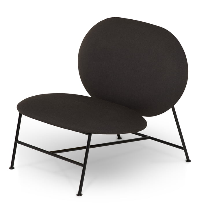 Oblong Lounge Chair von Northern in schwarz / Brusvik dunkelgrau (08)