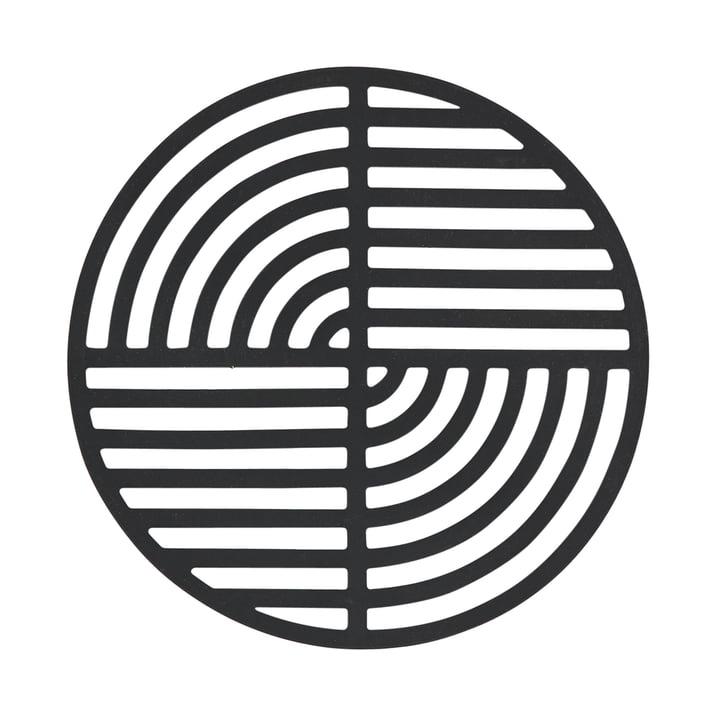 Der Zone Denmark - Circle Untersetzer in schwarz