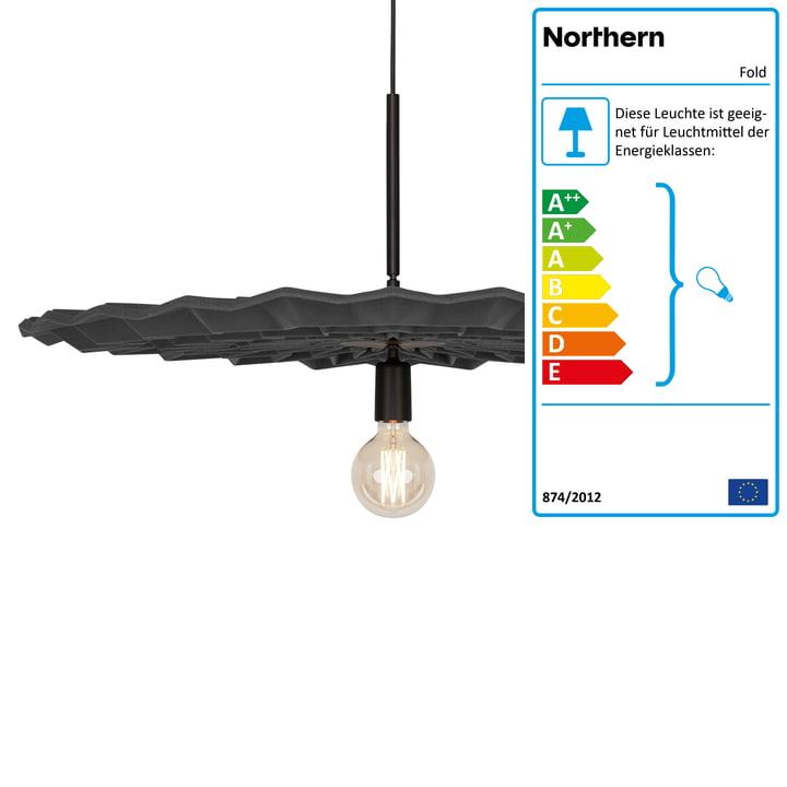 Northern - Fold Pendelleuchte, dunkelgrau