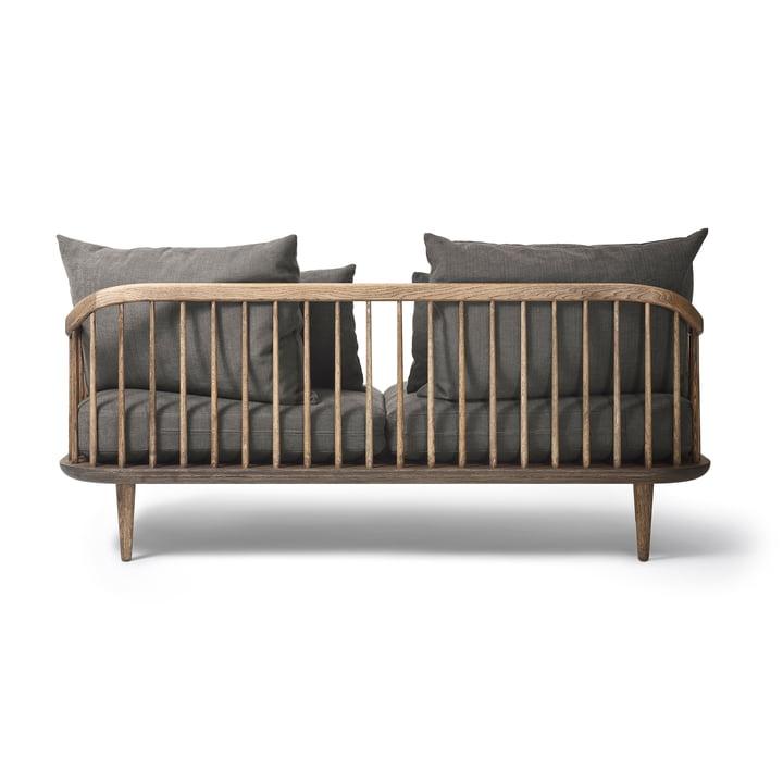 Das &Tradition - FLY 2-Sitzer Sofa SC2, Gestell Eiche geräuchert / Bezug Hot Madison 093 in der Rückansicht