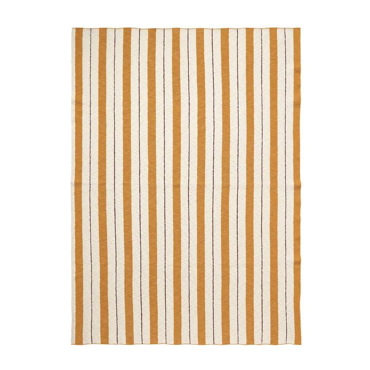 Pinstripe Decke von ferm Living in Senf