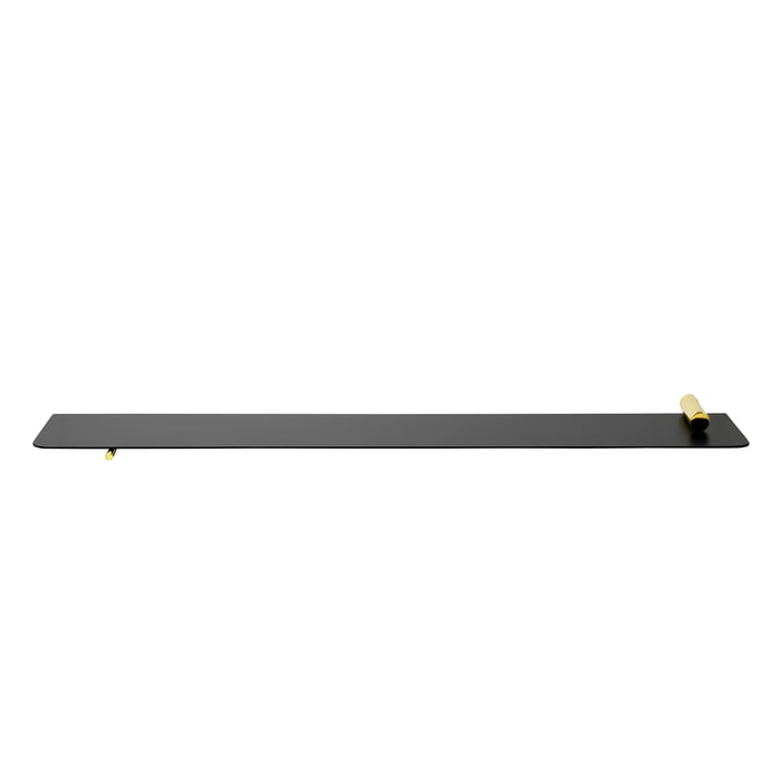 Flying Shelf Cylinder Wandablage von ferm Living in Schwarz / Messing