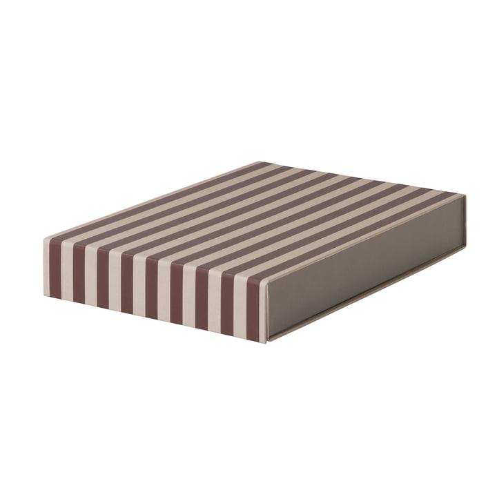 Striped Box rechteckig von ferm Living in Bordeaux/ Rosa