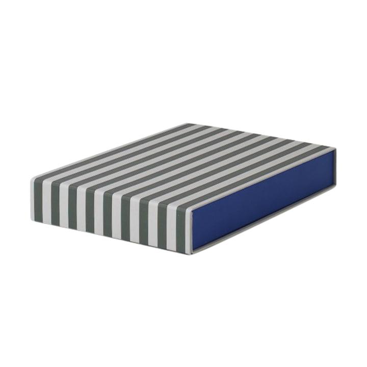 Striped Box rechteckig von ferm Living in Grün/ Cremeweiß
