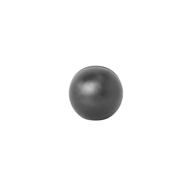 Kartenhalter Sphere von ferm Living in Messing/ Schwarz