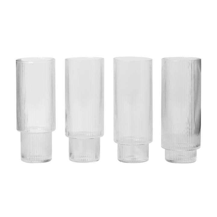 Ripple Longdrink-Gläser (4er-Set) von ferm Living
