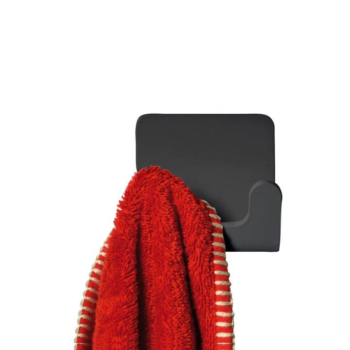 Puro Handtuchhaken von Radius Design in Schwarz