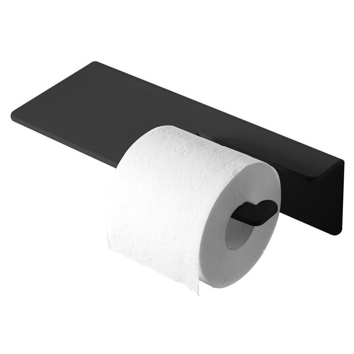Puro Toilettenpapierhalter von Radius Design in Schwarz