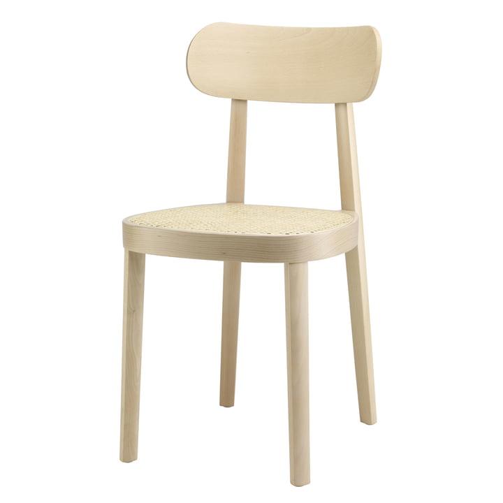 Der Thonet - 118 Stuhl, Rohrgeflecht mit Kunststoffstützgewebe / Buche hell (TP 107)