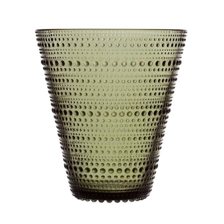 Die Iittala - Kastehelmi Vase 154 mm, moosgrün