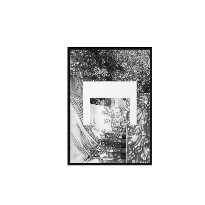 Silhouette Poster A4 21 x 29.7 cm von by Lassen in Grau