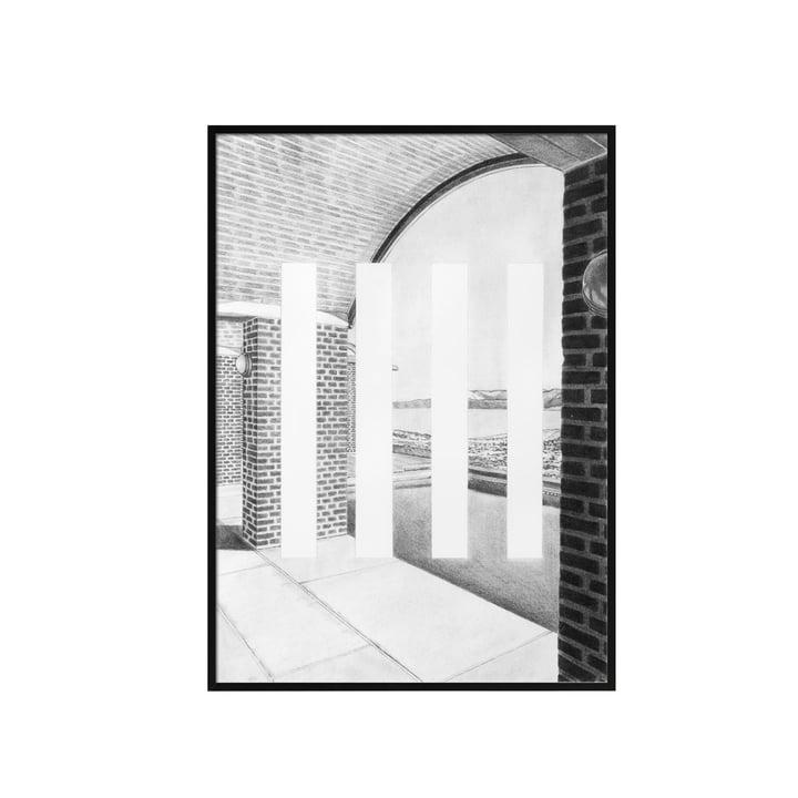 Silhouette Poster A3 42 x 29.7 cm von by Lassen in Grau