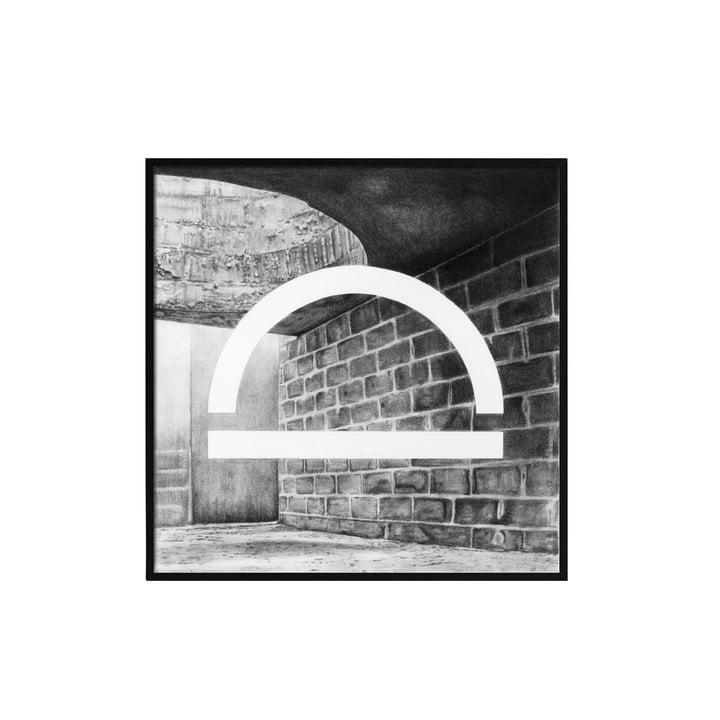 Silhouette Poster 29.7 x 29.7 cm von by Lassen in Grau