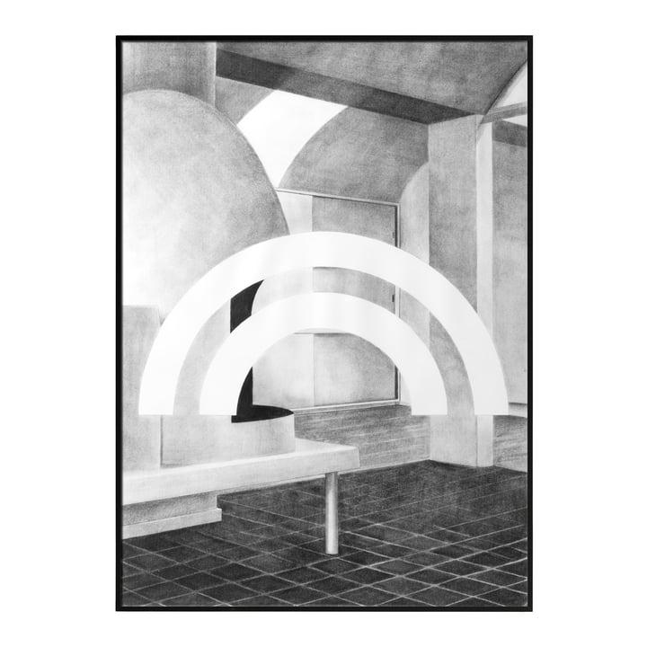 Silhouette Poster 50 x 70 cm von by Lassen in Grau