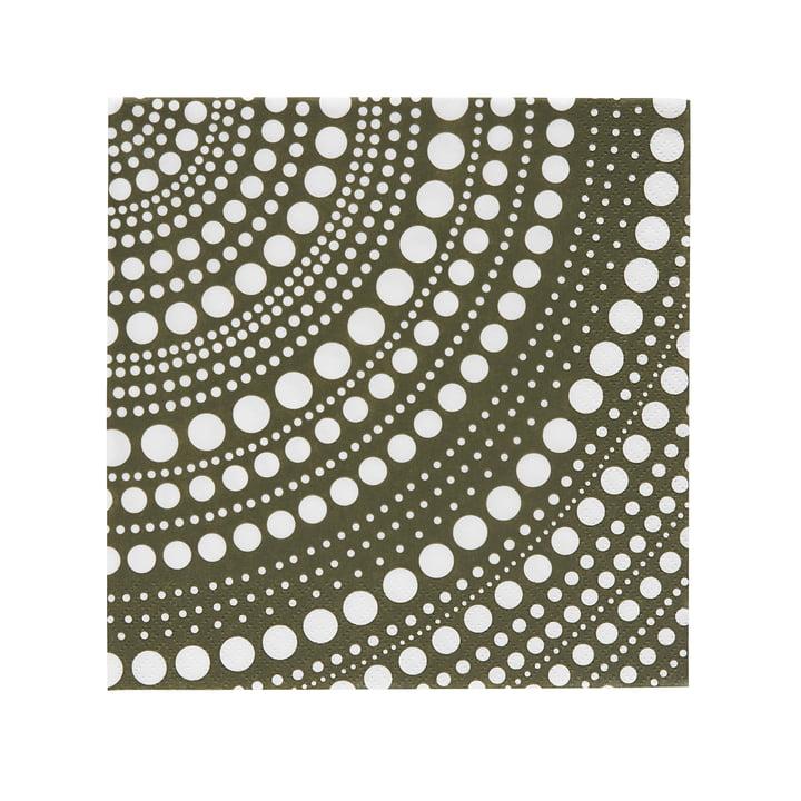 Kastehelmi Papierserviette 33 x 33 cm von Iittala in Moosgrün
