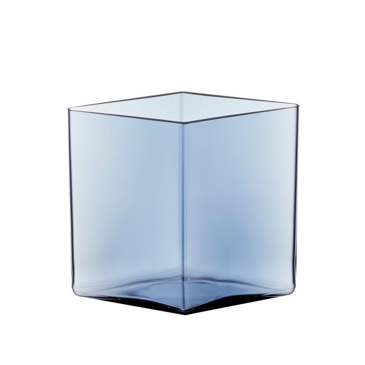 Ruutu Vase 205 x 180 mm von Iittala in Regenblau