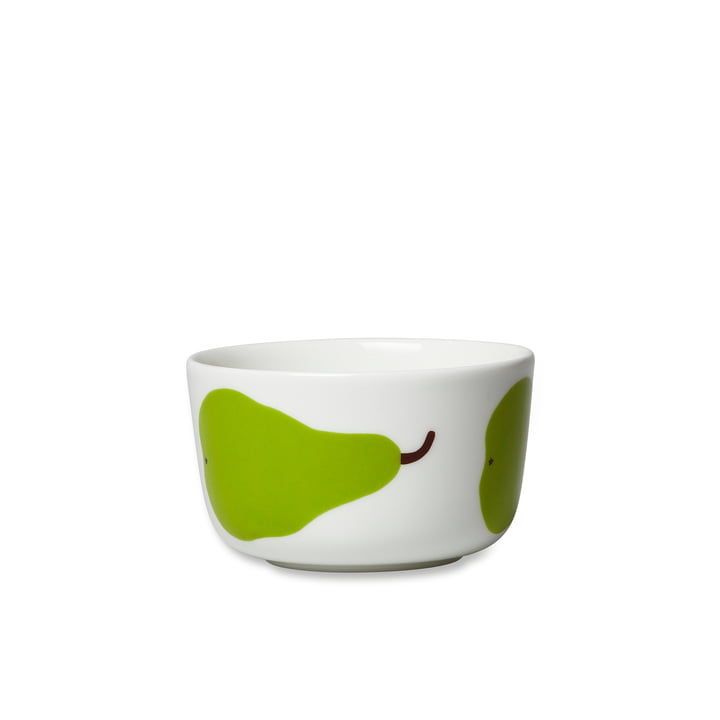 Oiva Päärynä Schale 250 ml von Marimekko in Weiß / Grün
