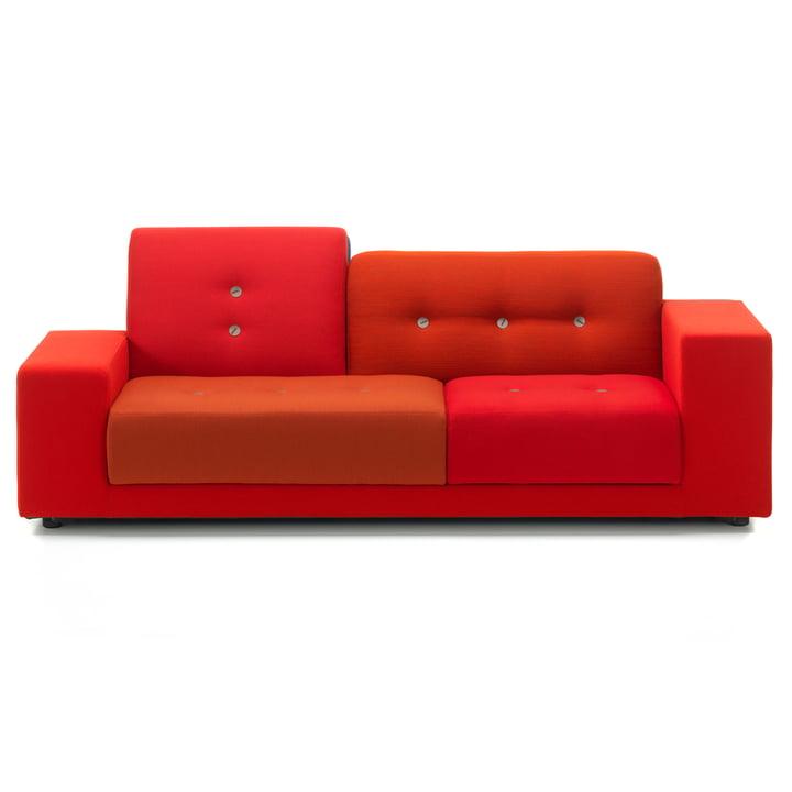 Das Vitra - Polder Compact Sofa, rot