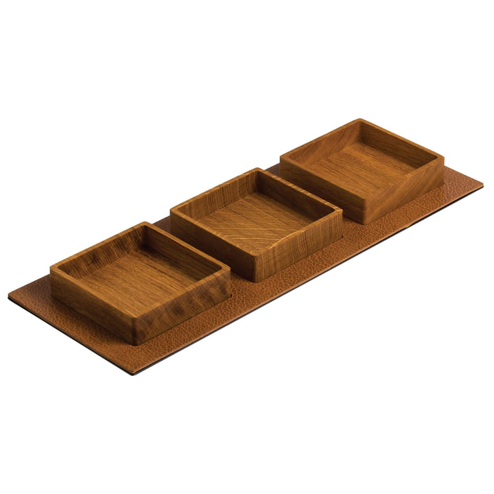Serving Tray Set Square 44 x 16,5 cm von LindDNA in Eiche natur / Bull natur