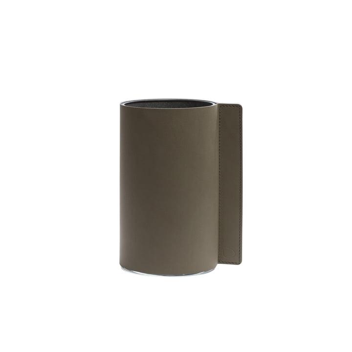 Block Vase S, Ø 7,5 x 15 cm, Nupo army green / Glas