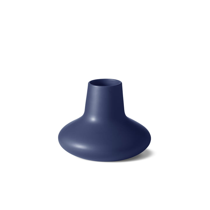 Die Georg Jensen - Henning Koppel Vase small, Steingut blau