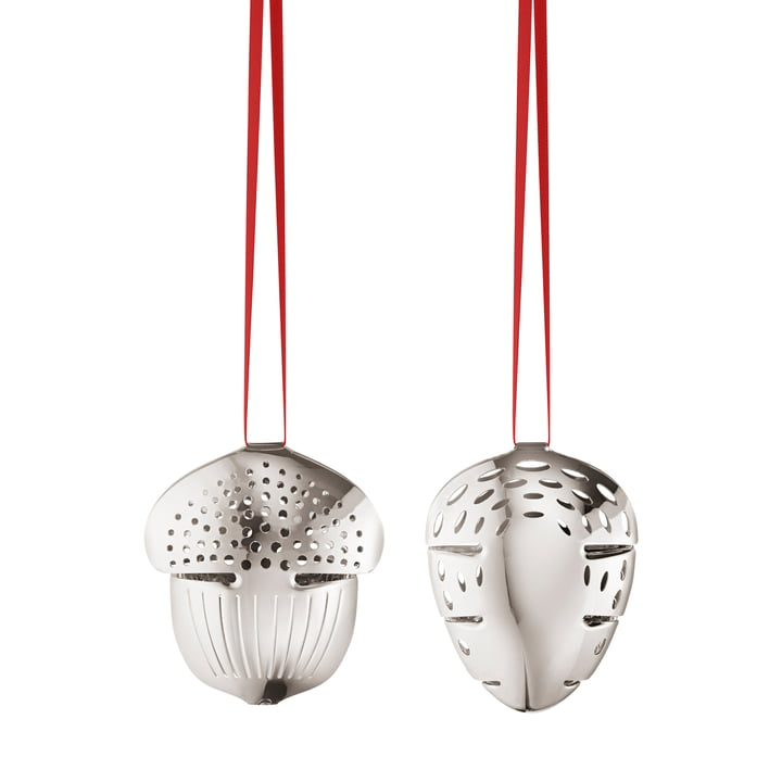 Holiday Ornament 2018 Eichel & Tannenzapfen von Georg Jensen in palladium