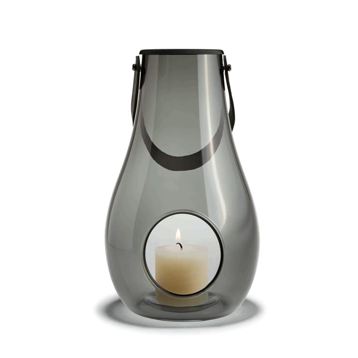 Design with light Laterne H 29 cm von Holmegaard in Smoke