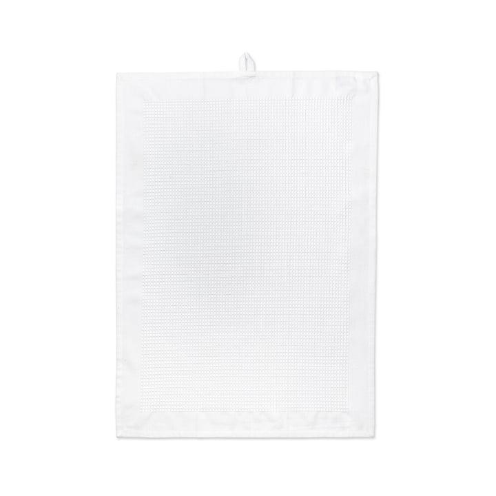 Waffle Geschirrtuch 50 x 70 cm von Juna in Weiß
