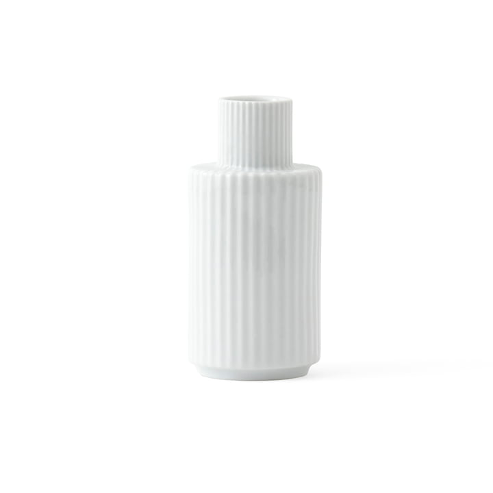 Kerzenhalter H 11 cm von Lyngby Porcelæn in Weiß