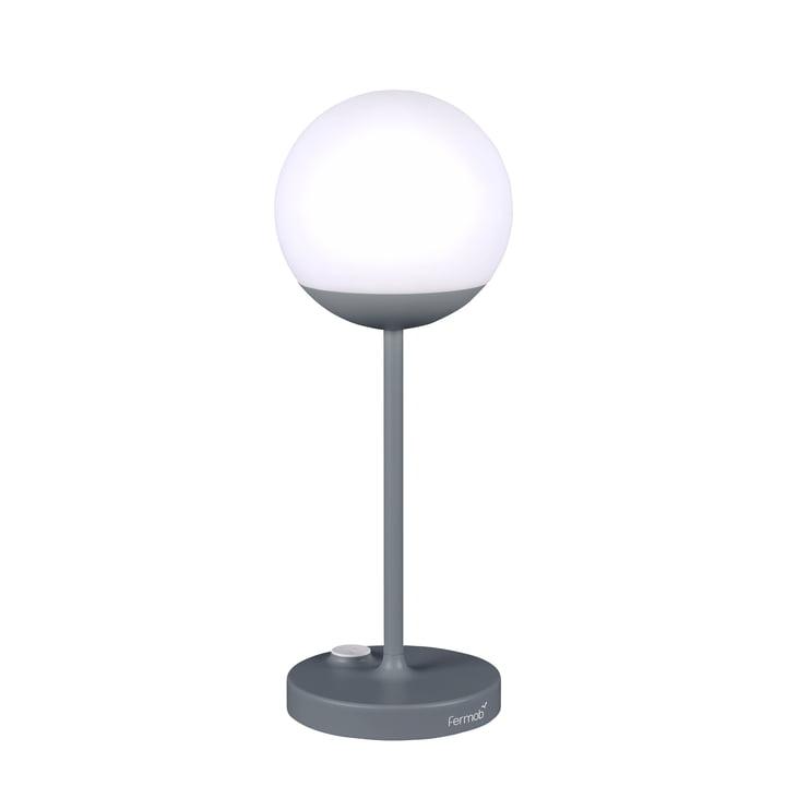 Mooon! Akku LED-Leuchte H 40 cm von Fermob in Gewittergrau