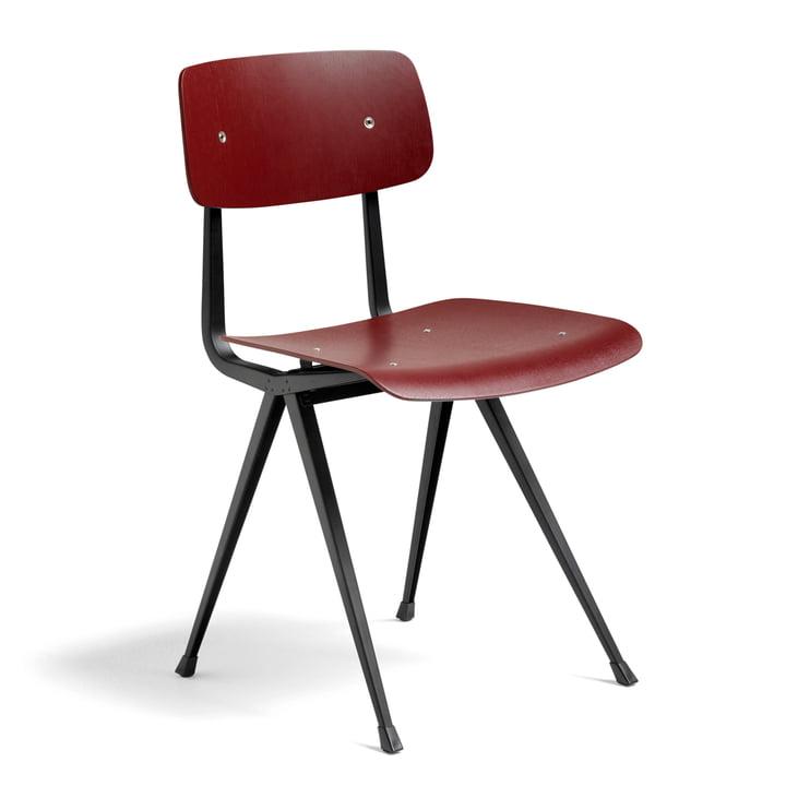 Der Hay - Result Chair, dark brick / schwarz