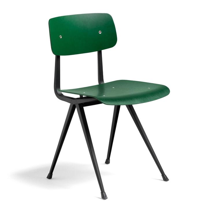 Der Hay - Result Chair, forest green / schwarz
