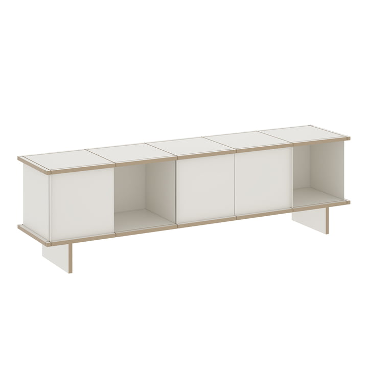 Das Konstantin Slawinski - YU Sideboard Set 5 x 1, MDF weiß / weiß