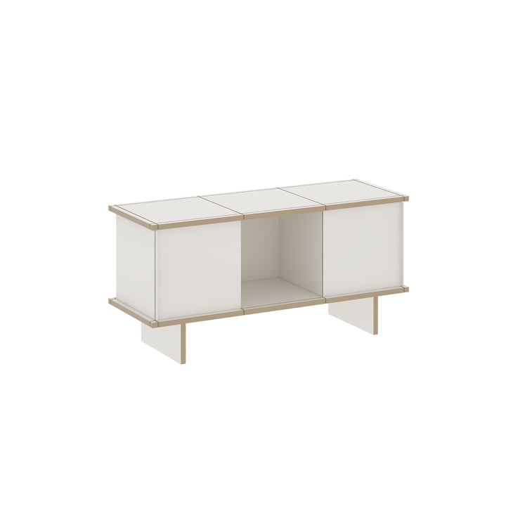 DasKonstantin Slawinski - YU Sideboard Set 3 x 1, MDF weiß / weiß