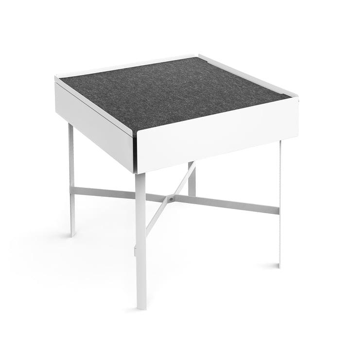 Konstantin Slawinski - Charge Beistelltisch H 45 cm, weiß / grau