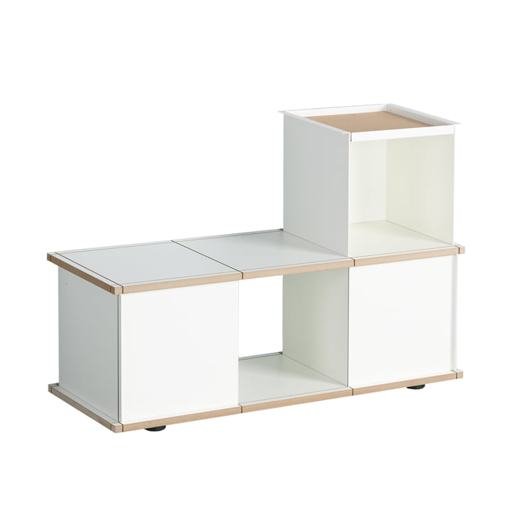 Die Konstantin Slawinski - YU Bank 3 x 1, MDF weiß / weiß