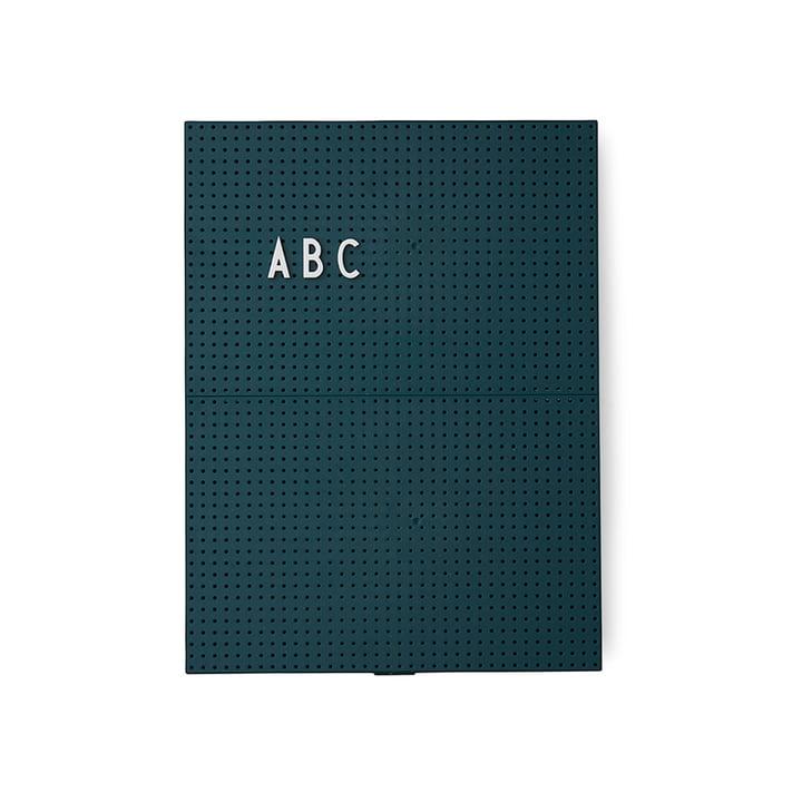 Das Design Letters - Message Board A4, dunkelgrün