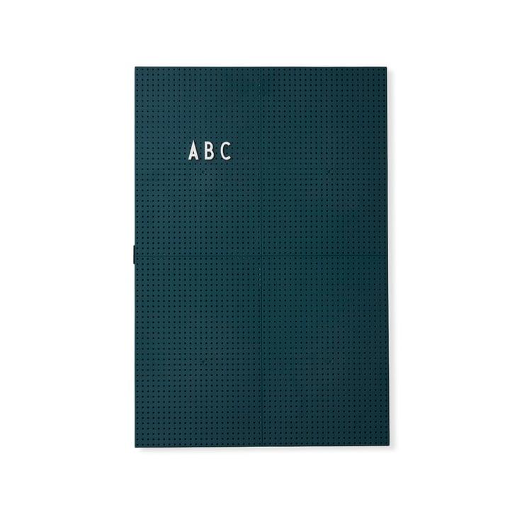Das Design Letters - Message Board A3, dunkelgrün