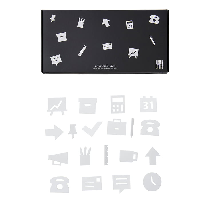 Design Letters - Icons für Message Board, Office / weiß