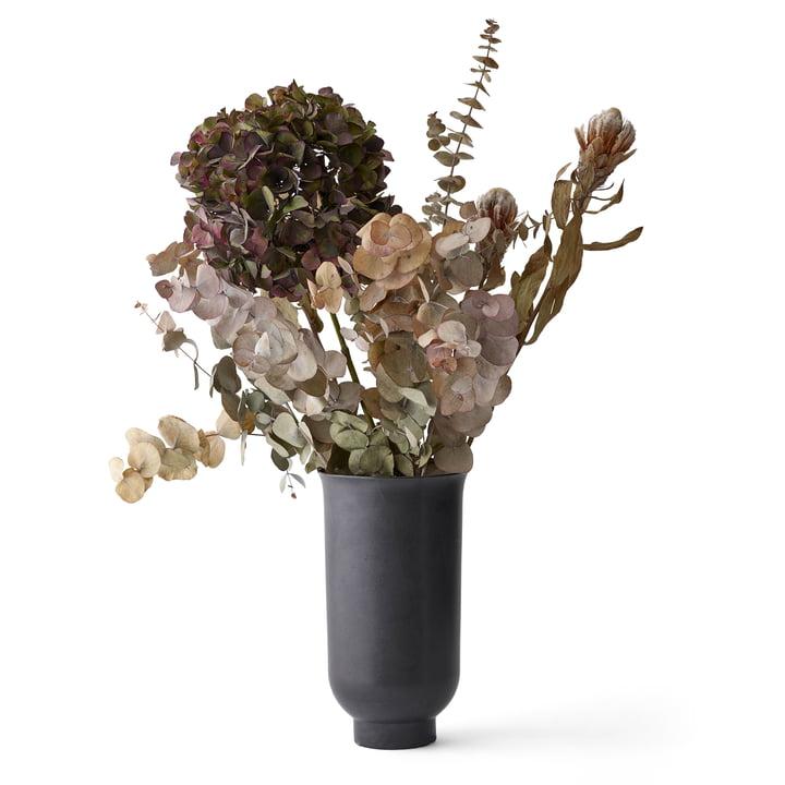 Cyclades Vase H 26 cm von Menu in Schwarz