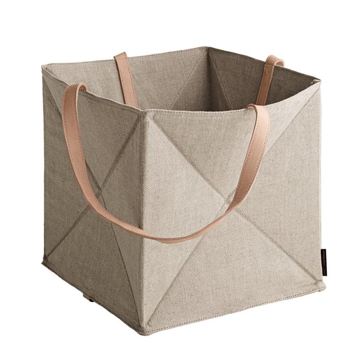 Der Fritz Hansen - Origami Aufbewahrungskorb H 29 cm, Leinen / Leder natur