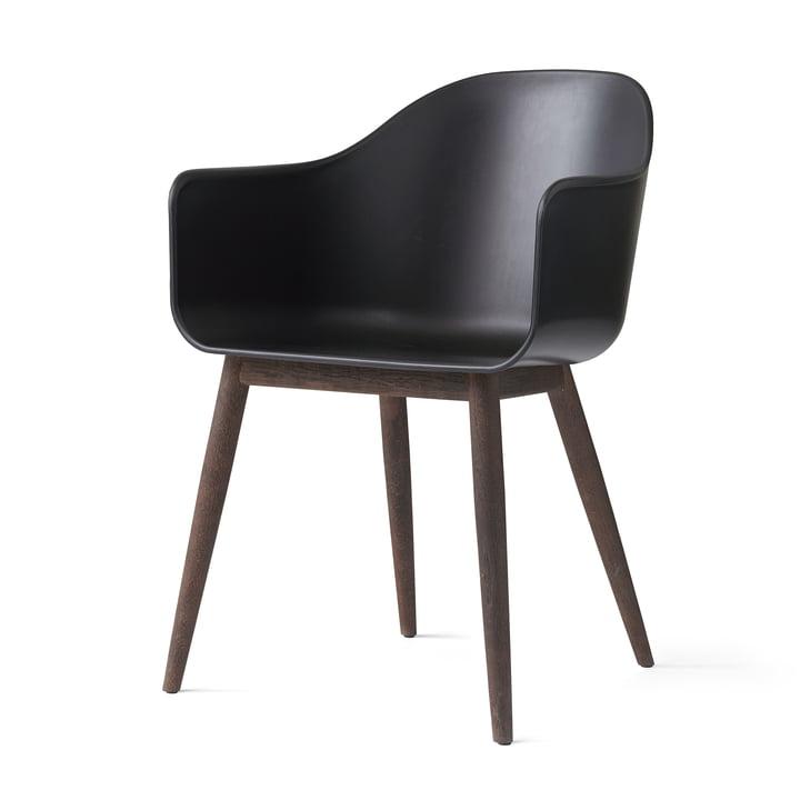Harbour Chair von Menu in Eiche dunkel / Schwarz