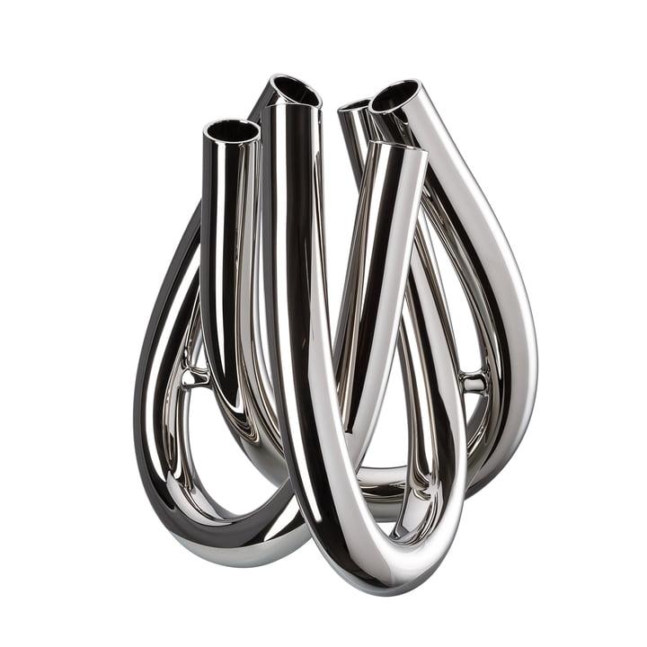 Triu Vase H 22 cm von Rosenthal in Silber