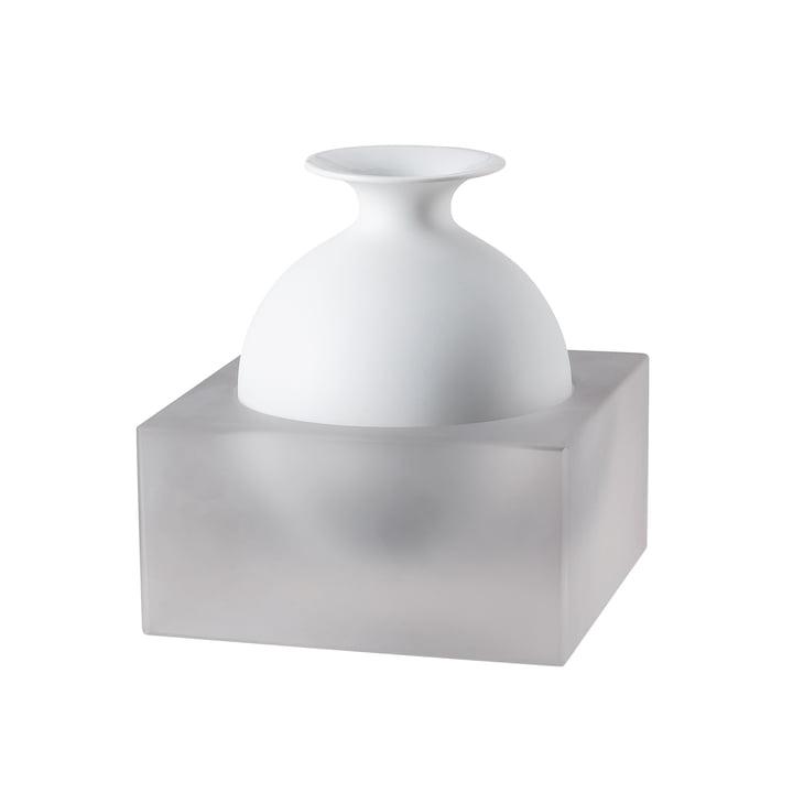 Freddo Vase H 18 cm von Rosenthal in Glas / Weiß