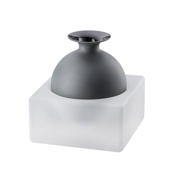 Freddo Vase H 18 cm von Rosenthal in Glas / Schwarz