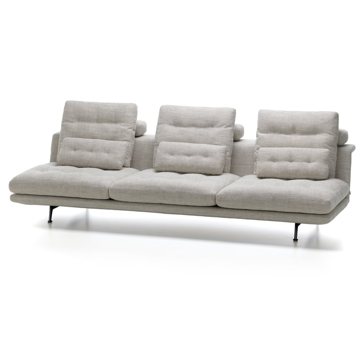 Vitra - Grand Sofà 3,5-Sitzer ohne Lehnen